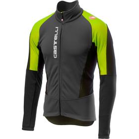 Castelli Mortirolo V Jacket Men dark gray/yellow fluo